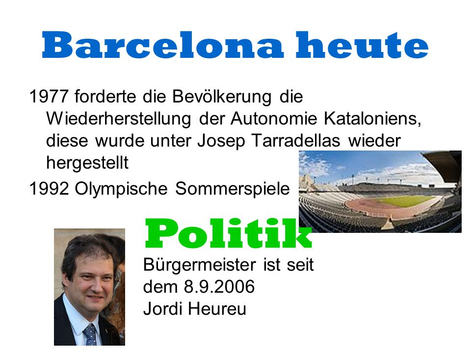 Politik Barcelona heute