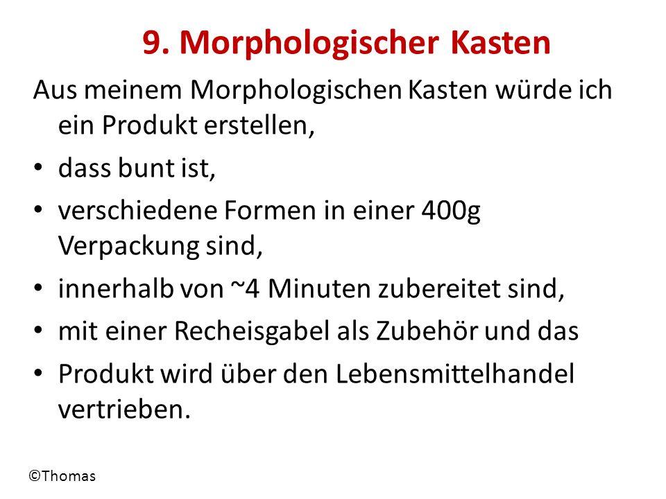 9. Morphologischer Kasten