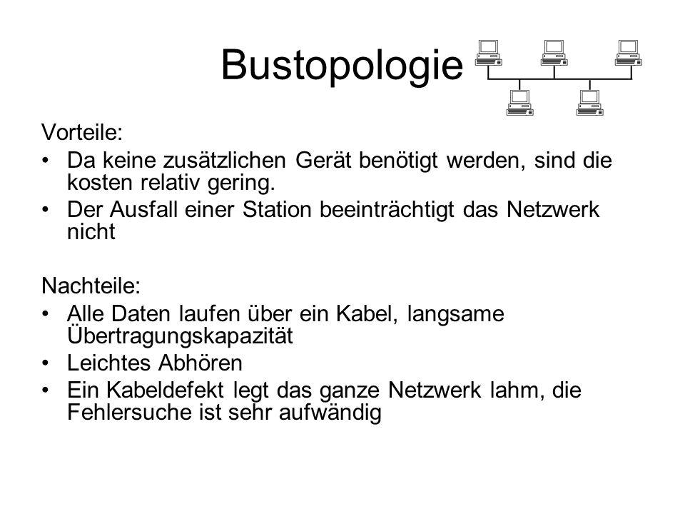 Bustopologie Vorteile: