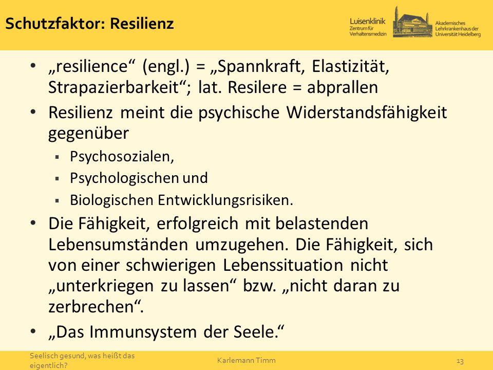 Schutzfaktor: Resilienz