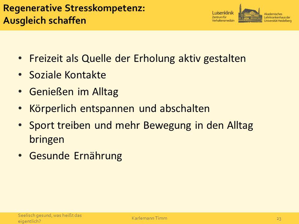 Regenerative Stresskompetenz: Ausgleich schaffen