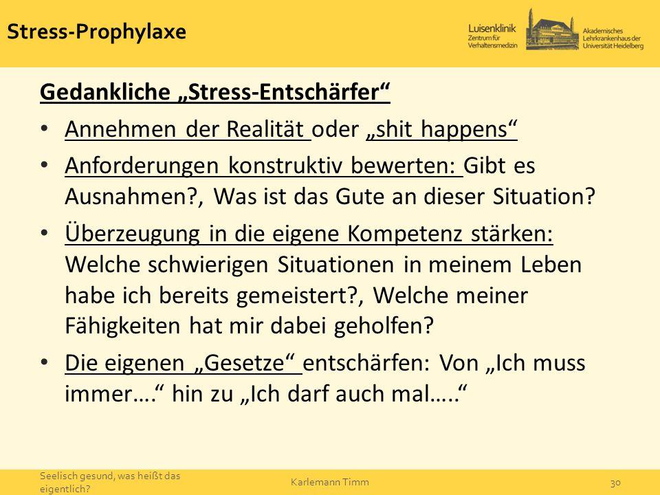 """Gedankliche """"Stress-Entschärfer"""