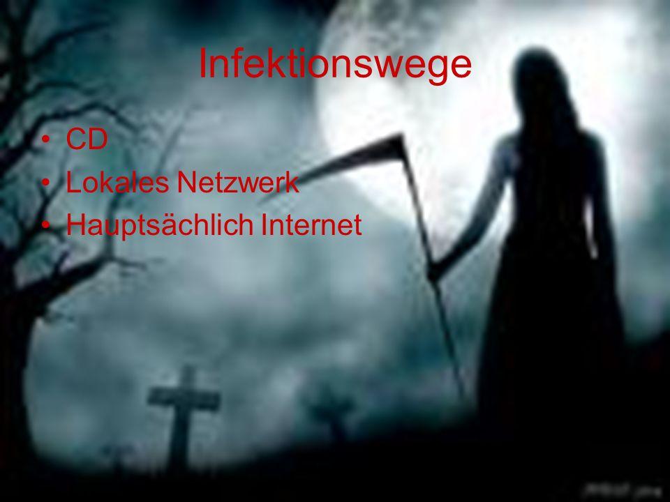Infektionswege CD Lokales Netzwerk Hauptsächlich Internet
