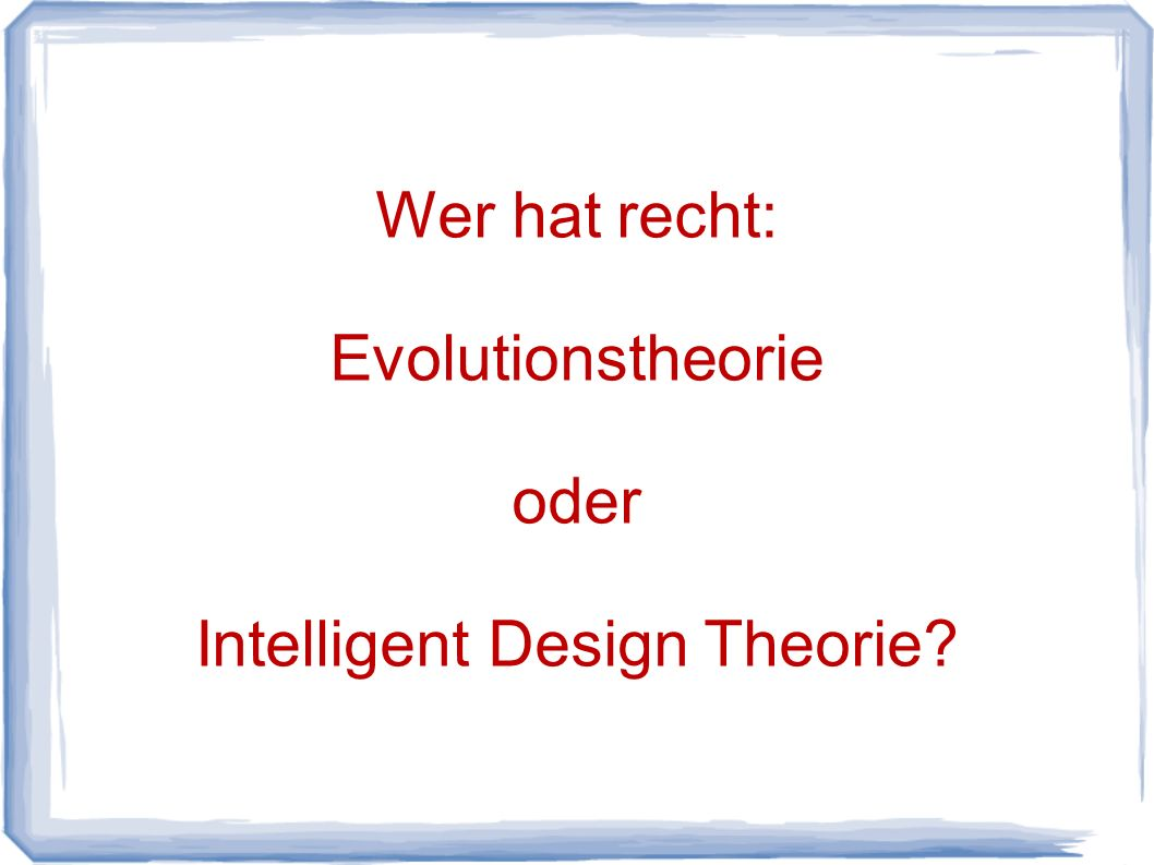 Intelligent Design Theorie