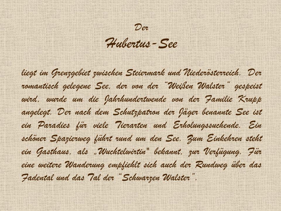 Der Hubertus-See.