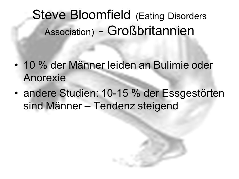 Steve Bloomfield (Eating Disorders Association) - Großbritannien