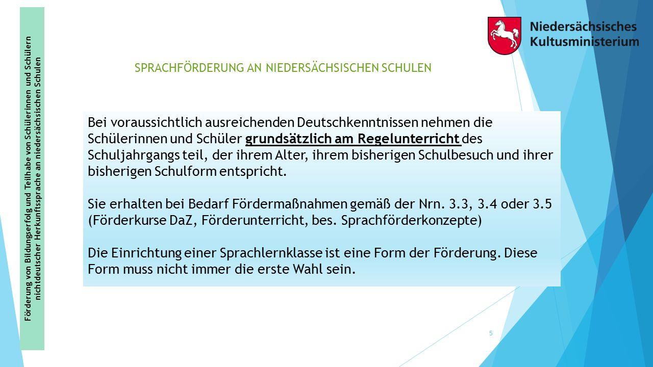 Sprachförderung an Niedersächsischen Schulen