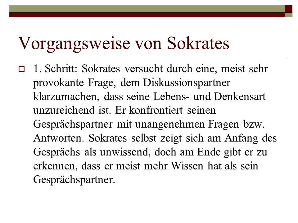 Vorgangsweise von Sokrates