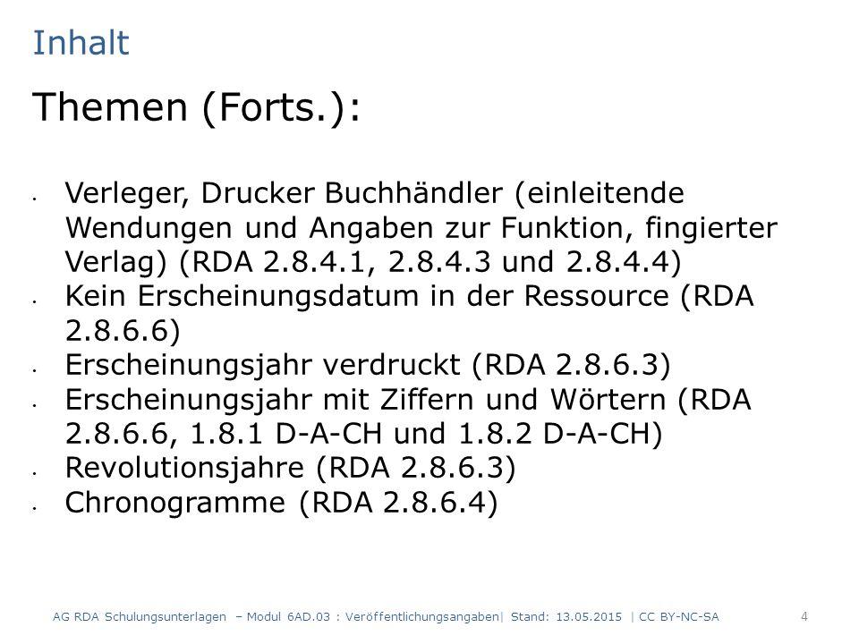 Themen (Forts.): Inhalt
