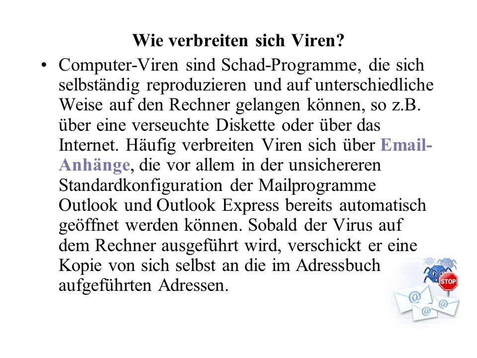 Wie verbreiten sich Viren