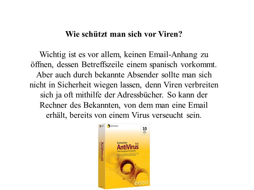 Wie schützt man sich vor Viren
