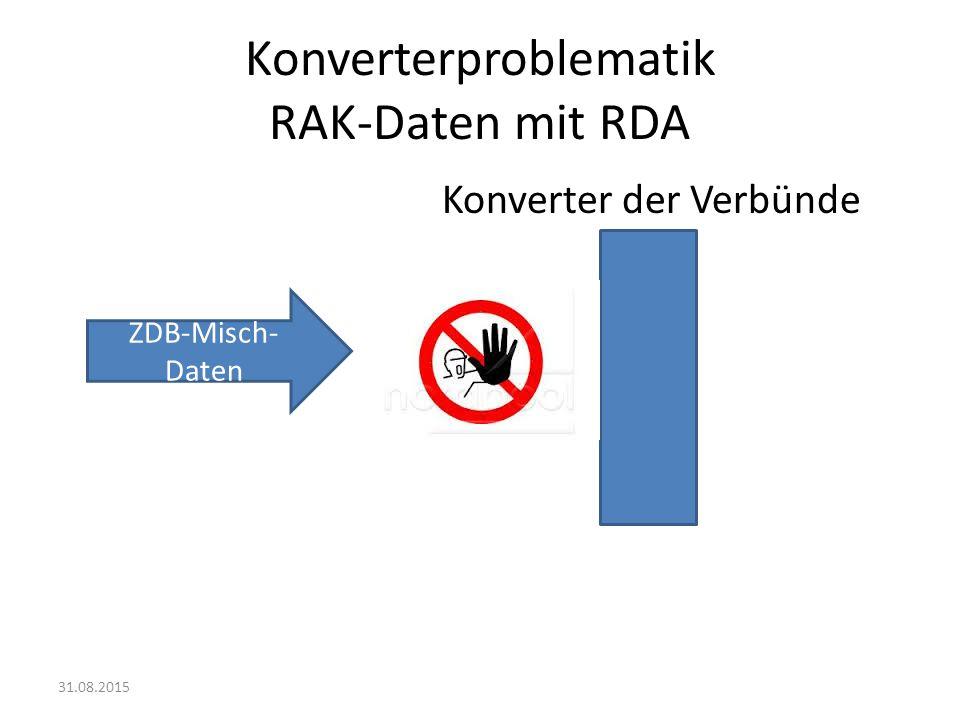 Konverterproblematik RAK-Daten mit RDA
