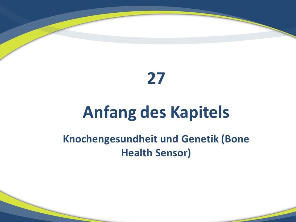 Knochengesundheit und Genetik (Bone Health Sensor)