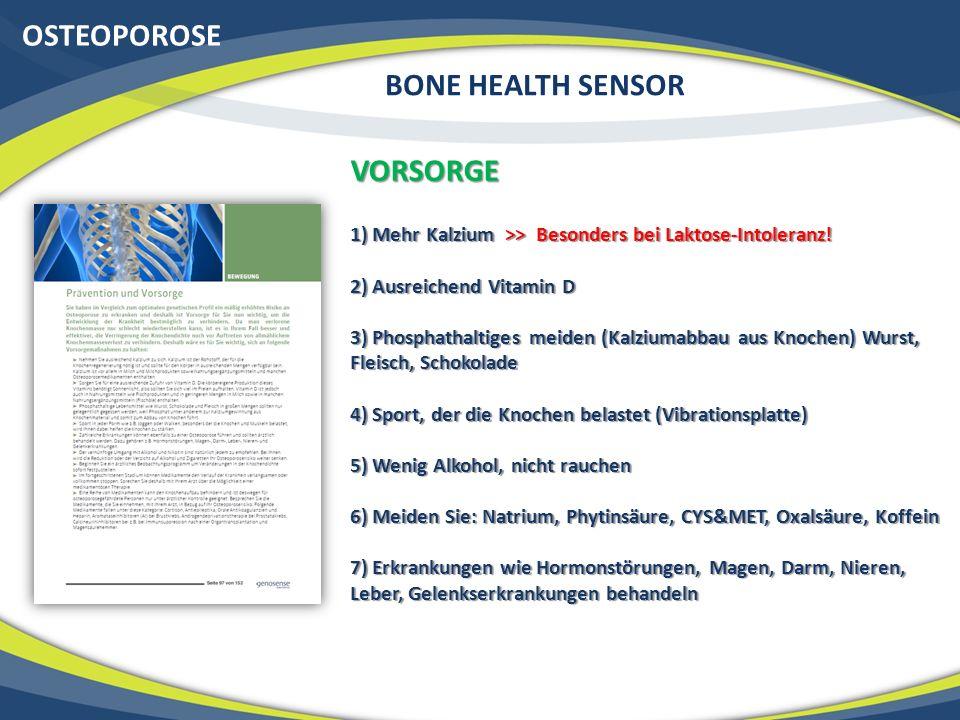OSTEOPOROSE BONE HEALTH SENSOR VORSORGE