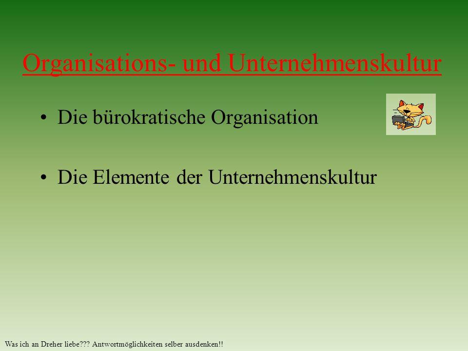 Organisations- und Unternehmenskultur