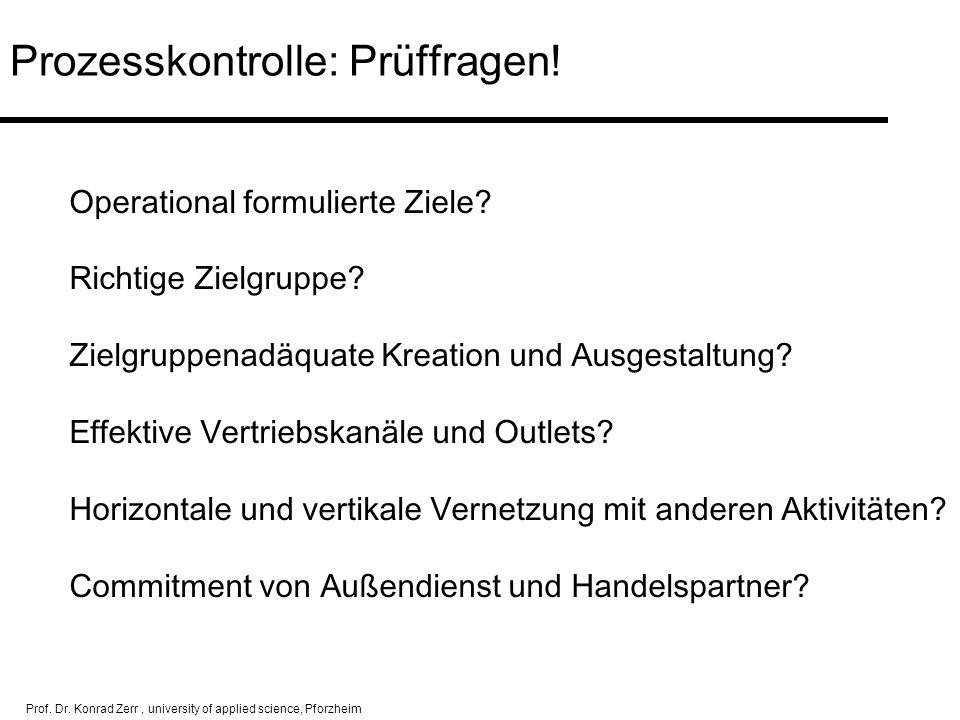 Prozesskontrolle: Prüffragen!