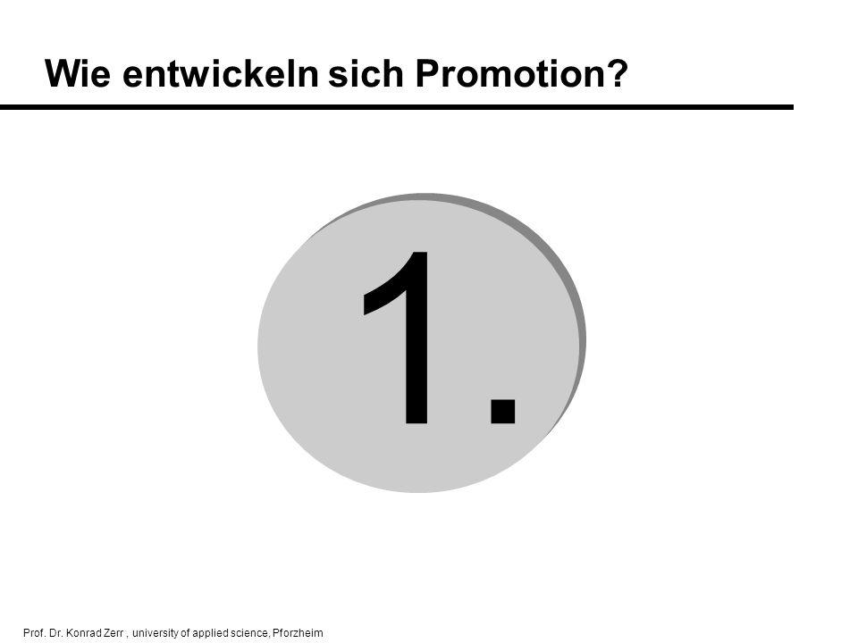 Wie entwickeln sich Promotion