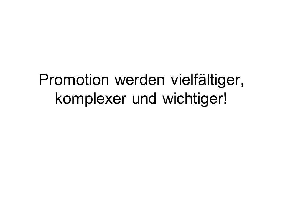 Promotion werden vielfältiger, komplexer und wichtiger!