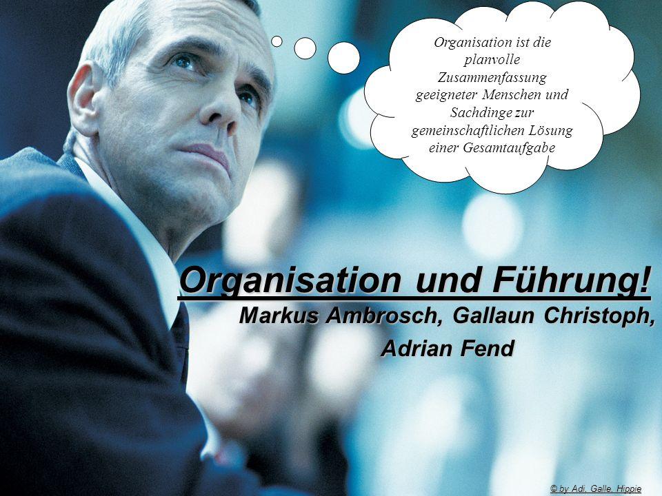 Organisation und Führung!