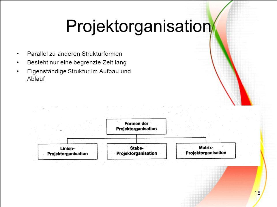 Projektorganisation Parallel zu anderen Strukturformen
