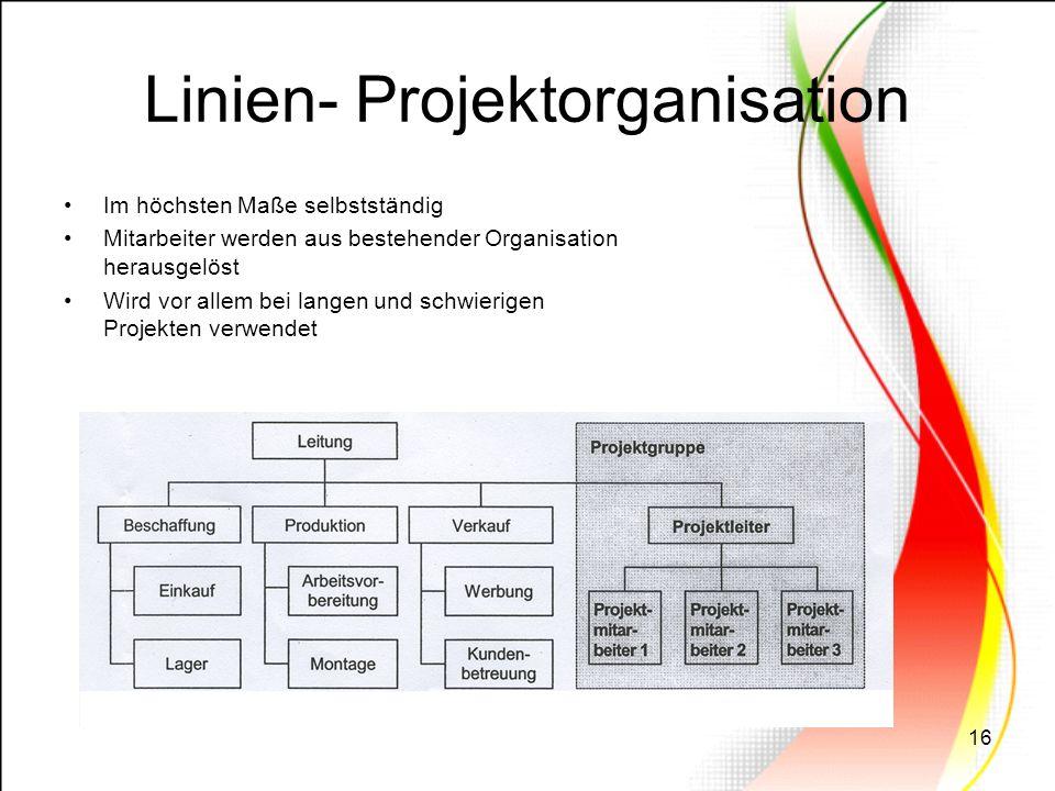 Linien- Projektorganisation