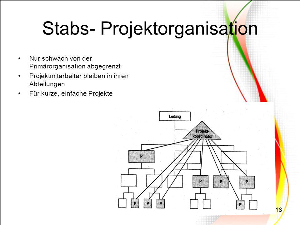 Stabs- Projektorganisation