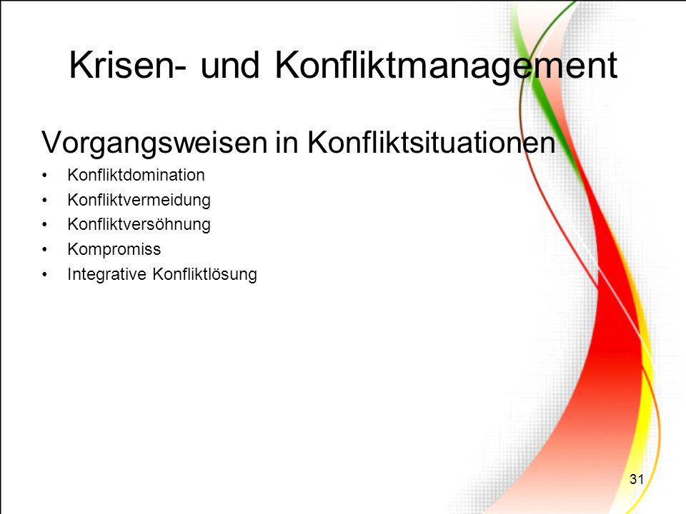 Krisen- und Konfliktmanagement