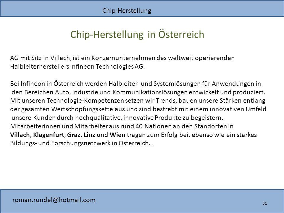 Chip-Herstellung in Österreich
