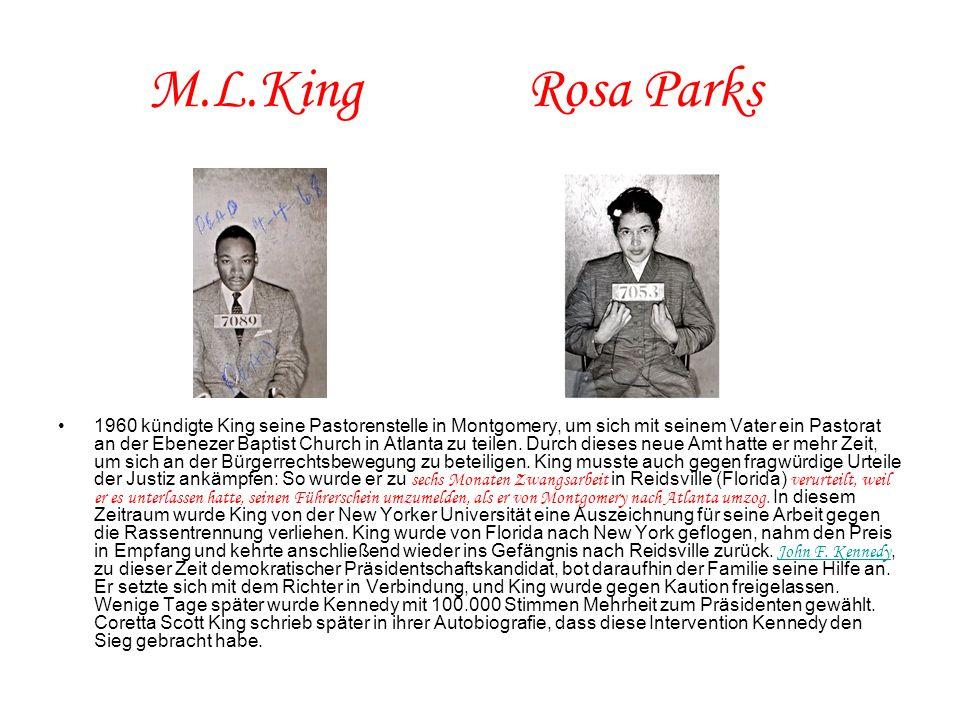 M.L.King Rosa Parks