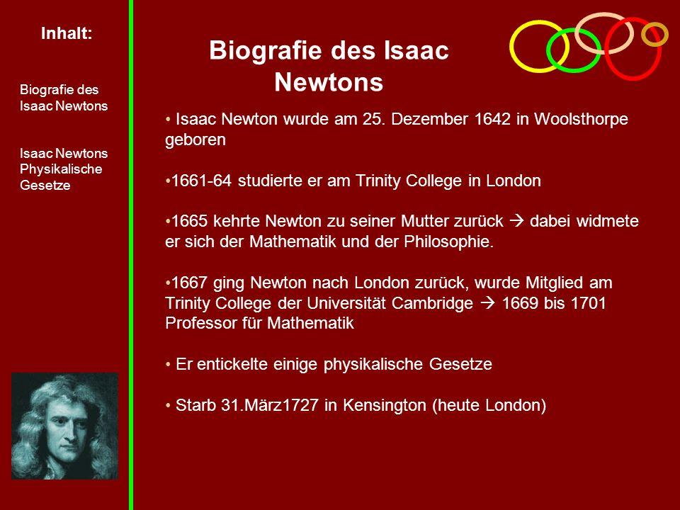 Biografie des Isaac Newtons