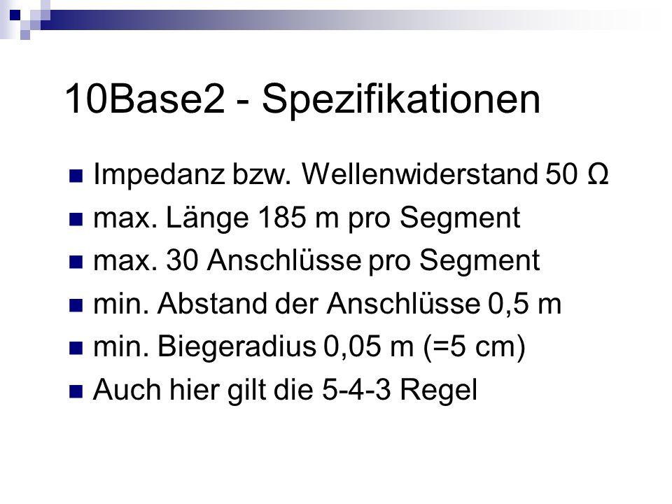 10Base2 - Spezifikationen