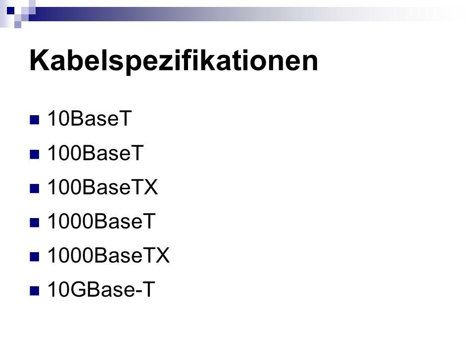 Kabelspezifikationen
