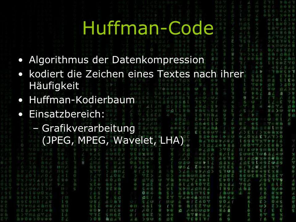 Huffman-Code Algorithmus der Datenkompression