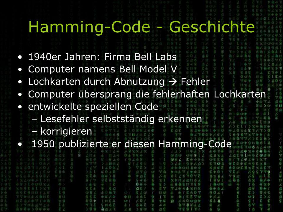 Hamming-Code - Geschichte
