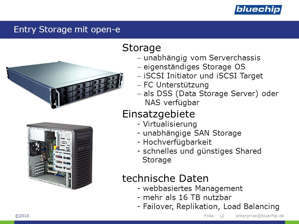 Entry Storage mit open-e