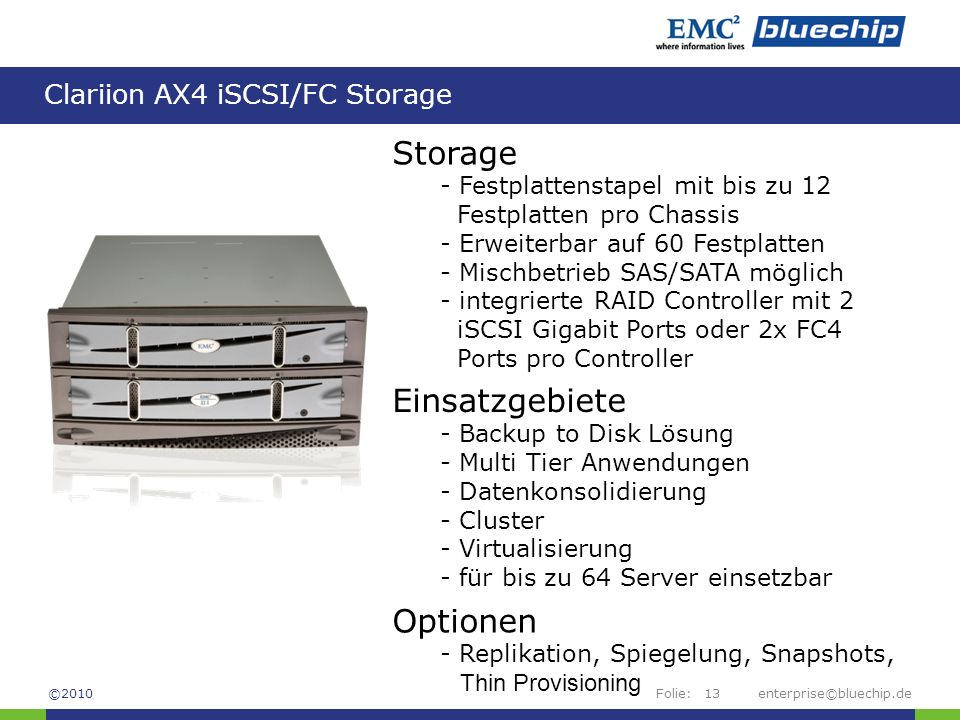 Clariion AX4 iSCSI/FC Storage
