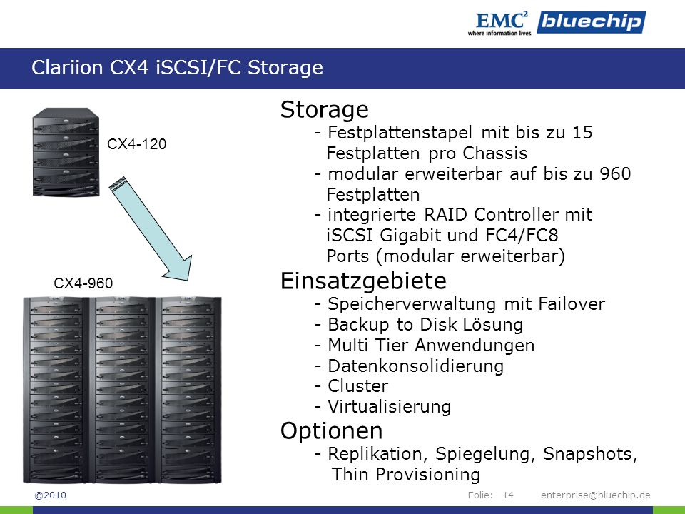 Clariion CX4 iSCSI/FC Storage