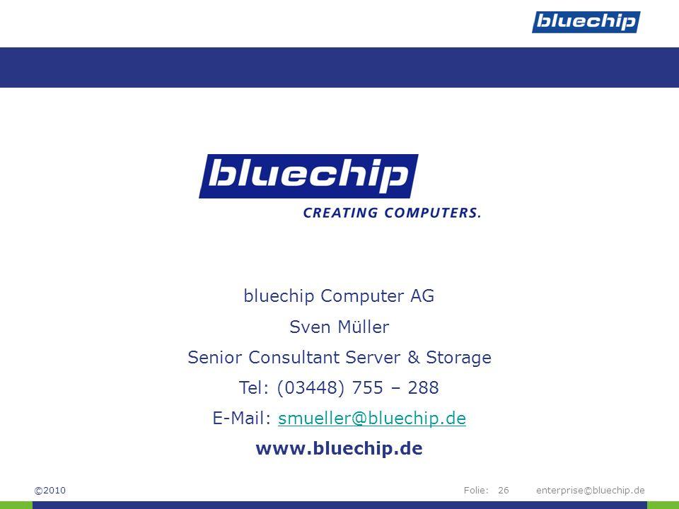 Senior Consultant Server & Storage Tel: (03448) 755 – 288