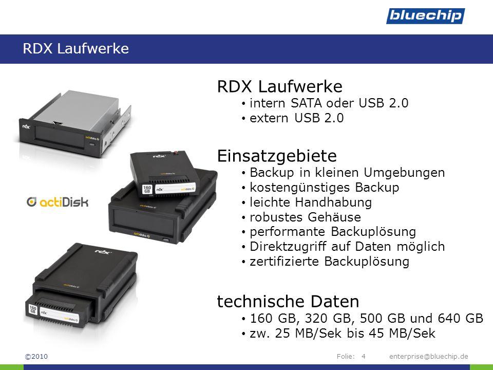RDX Laufwerke Einsatzgebiete technische Daten RDX Laufwerke