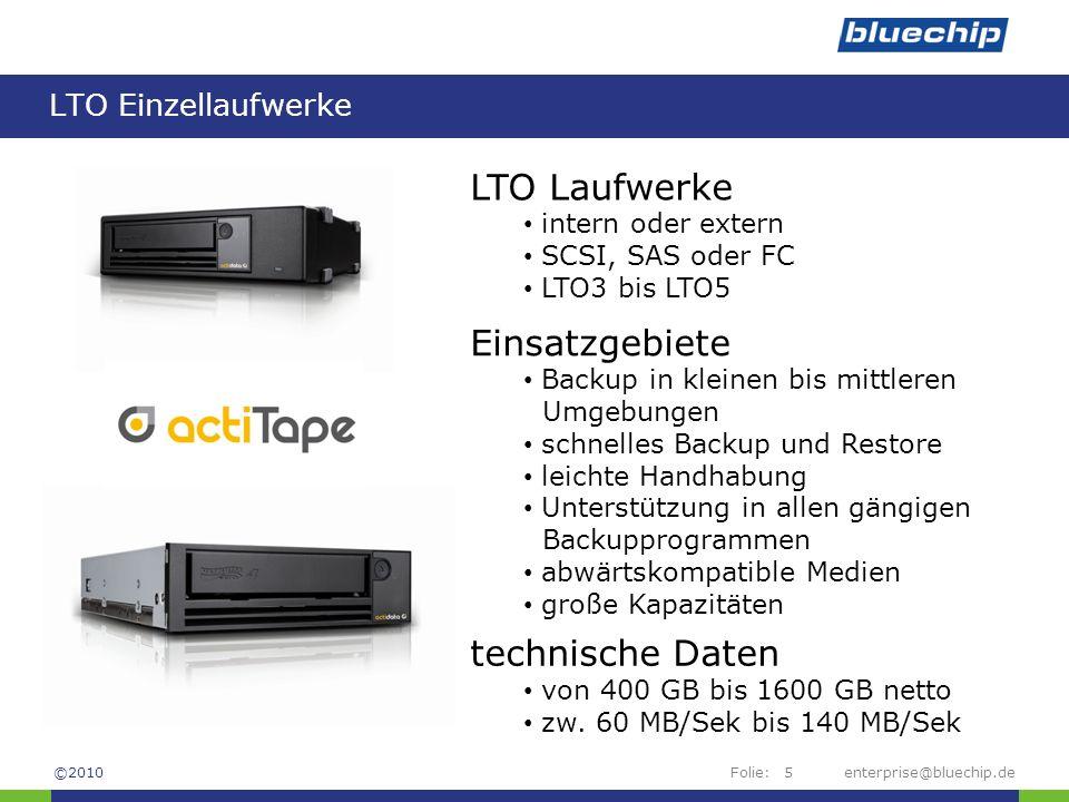 LTO Laufwerke Einsatzgebiete technische Daten LTO Einzellaufwerke
