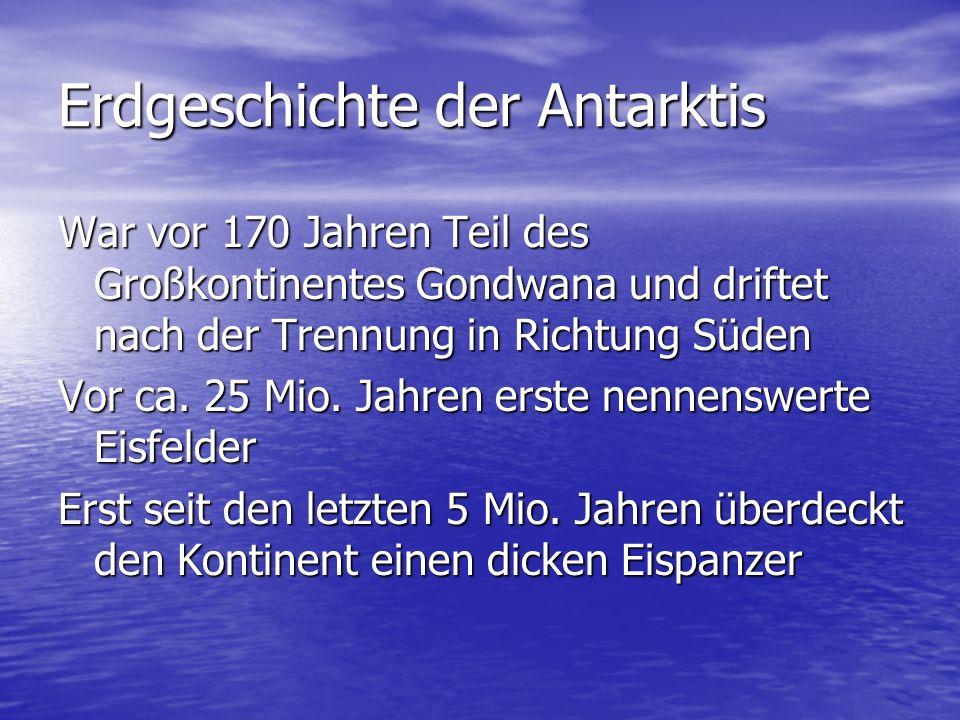 Erdgeschichte der Antarktis