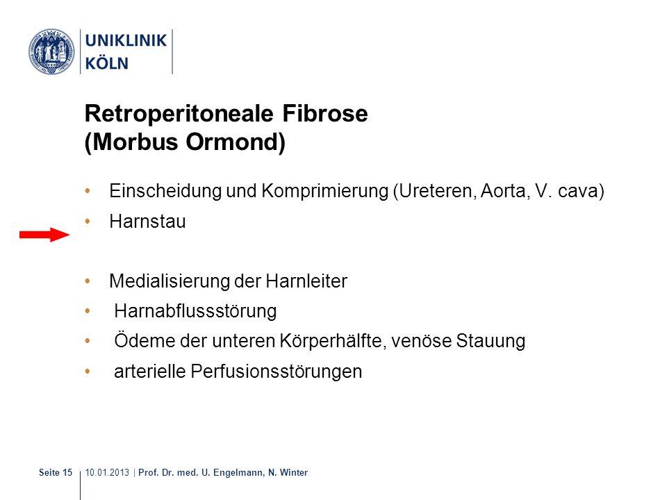 Retroperitoneale Fibrose (Morbus Ormond)