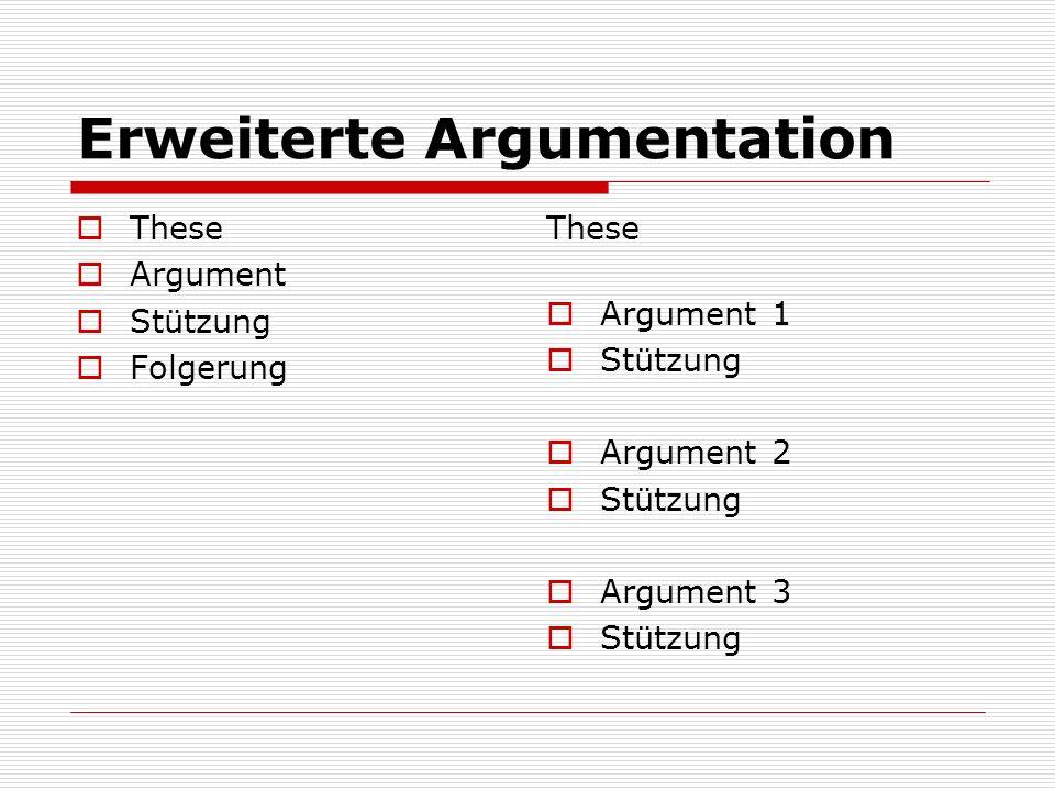 Erweiterte Argumentation