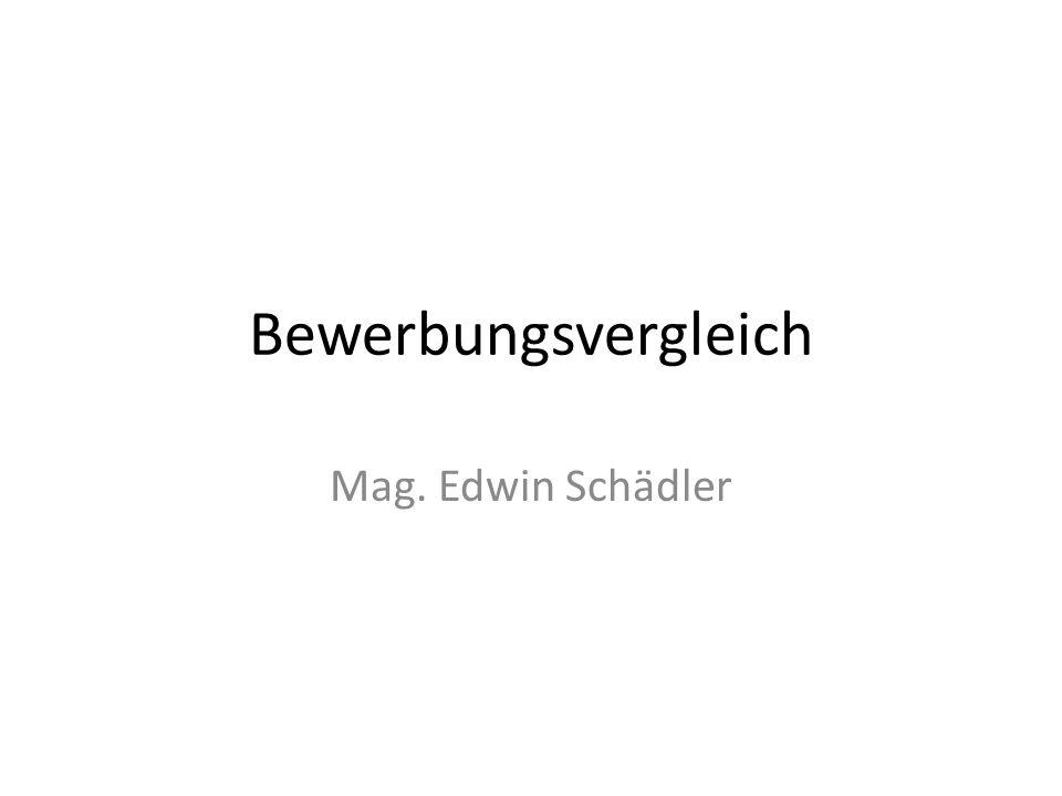 Bewerbungsvergleich Mag. Edwin Schädler