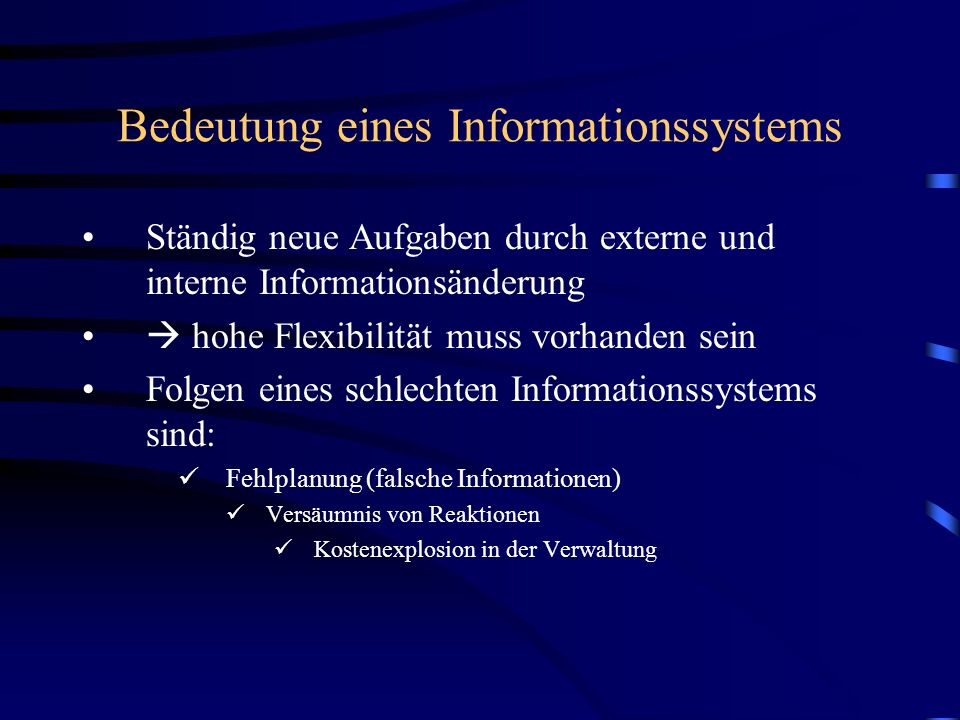 Bedeutung eines Informationssystems