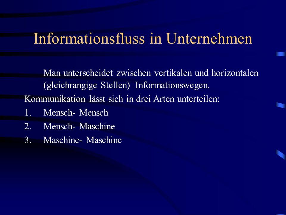 Informationsfluss in Unternehmen