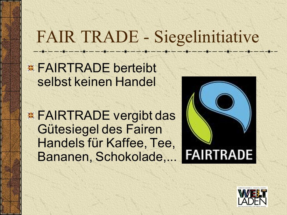 FAIR TRADE - Siegelinitiative