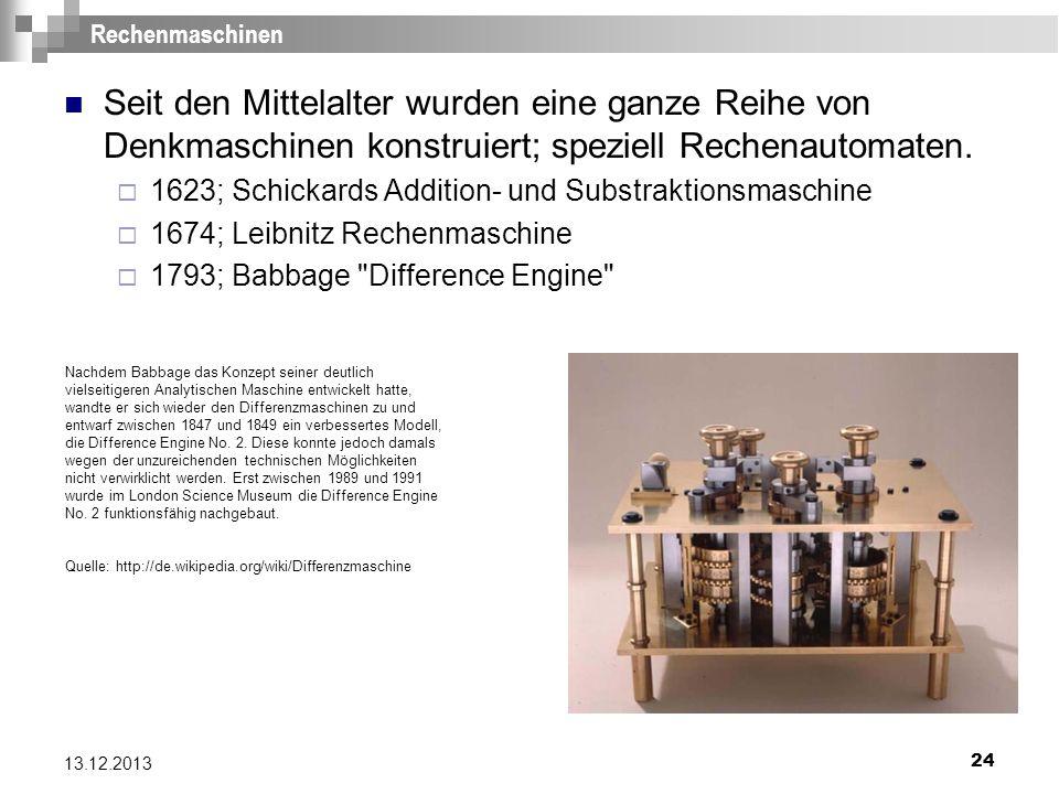 21.03.2017 Rechenmaschinen. Seit den Mittelalter wurden eine ganze Reihe von Denkmaschinen konstruiert; speziell Rechenautomaten.