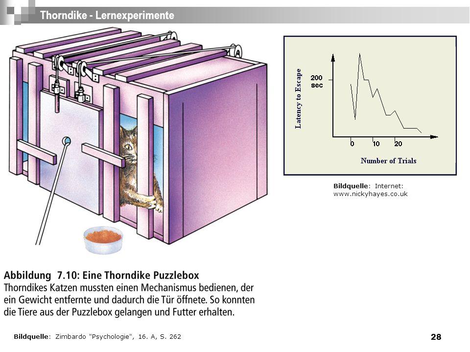 Thorndike - Lernexperimente