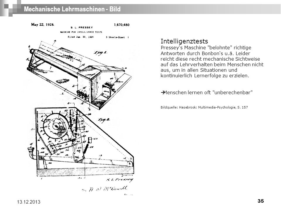 Mechanische Lehrmaschinen - Bild